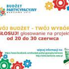 Budżet partycypacyjny - głosowanie trwa!